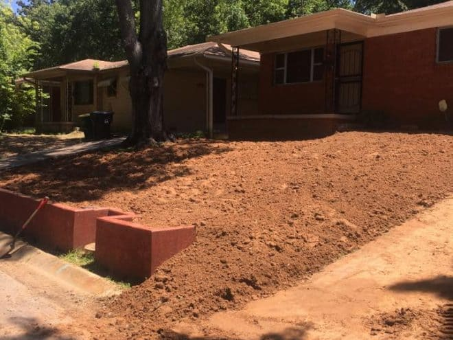 New lawn installation in Little Rock, AR Before Photo