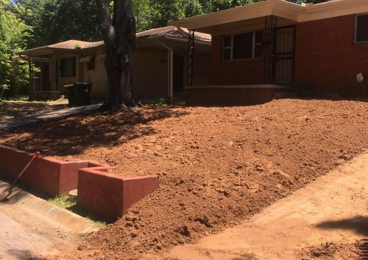 New landscaping in Little Rock AR Before Photo