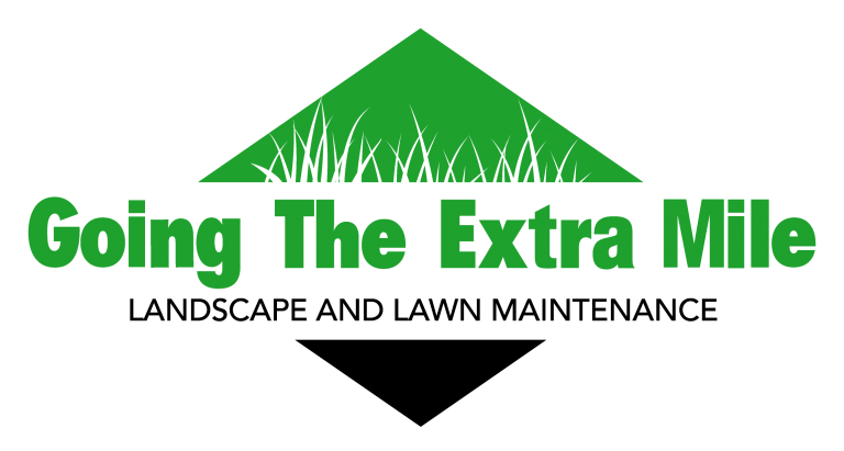 This is a photo of our branded logo for Going The Extra Mile Landscaping & Lawn Care Service
